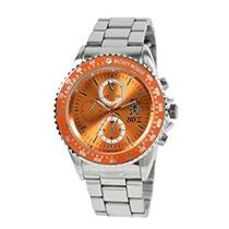 【カートクーポン使えます】1050147-OR Disney ディズニー ミッキー メンズ 腕時計 MK80周年記念時計 1050147 スワロフスキー付き メタルバンド オレンジ