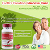 Earth's Creation Glucose Care ♡ 60's Capsules ♡ Helps Support Healthy Blood Sugar Levels ♡ Helps Maintain Healthy Insulin Function ♡ Chromium Picolinate ♡ Nopal Extract