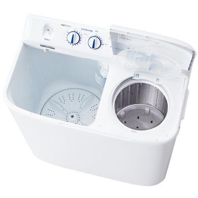 ハイアールステンレス脱水槽で清潔!5.5kg2槽式洗濯機JW-W55E-W