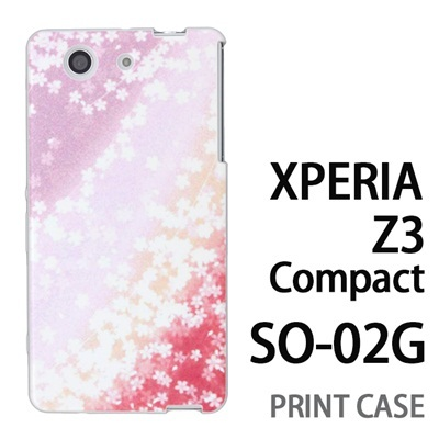 XPERIA Z3 Compact SO-02G 用『0312 桜グラデーション 赤×紫』特殊印刷ケース【 xperia z3 compact so-02g so02g SO02G xperiaz3 エクスペリア エクスペリアz3 コンパクト docomo ケース プリント カバー スマホケース スマホカバー】の画像