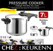 Dual Pressure Setting Range Top Pressure Cooker High Quality S/S 304 (18/8) Triple Layered Bottom