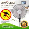 Golden Fuji  16 inch STAND FAN (GF-116) |Aerogaz 16Inch Stand Fan w Timer (AZ-198FS)|AZ-1212TF| AZ-171WF | AZ-172WFR |AZ 1208FTW|AZ 1618FSR Mosquito Repellent Function |