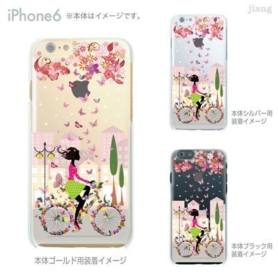 iPhone6 4.7 inch iphone ハードケース Clear Arts ケース カバー スマホケース クリアケース かわいい おしゃれ 着せ替え イラスト サイクリングと蝶 01-ip6-ca0031の画像