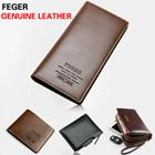 FEGER Men Genuine  Short  Wallets Fashion leather wallets 98087-3