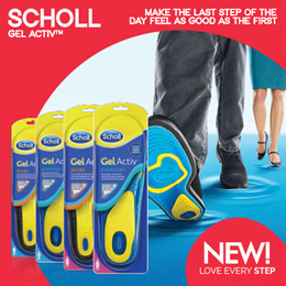 [RB]【FREE SHIPPING!】Scholl GelActiv® INSOLES | Feel Comfort In Every Shoe! 【 NEW!】