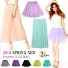 [BUY 2 ONE SHIPPING FEE]2015 Spring New Arrival/Fashion Lady TUTU Skirt/Gauze Skirt/Midiskirt/ Princess Dress/Cute Short Skirt/ Pleated Skirt/Long Skirt/Hot Sale