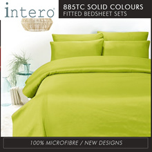 Hillcrest Studio Basic NEW SOLID/ Printed COLOURS 885TC Fitted Bedsheet set