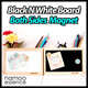 Black and white board - pen holder/organizer★Korea big hit design stationary★penholder office goods blackboard whiteboard magnet desk storage