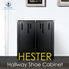 ELG HOME HESTER Hallway Shoe Storage Cabinet/Modern Wood Entryway Shoe Organizer/Household Furniture/Shoe Compartment/Shoes Rack