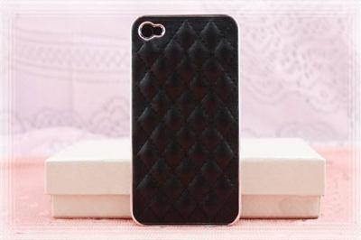 iphone4S ケース 革 iphone4/4Sケース ブラック/シルバー おしゃれデコiphone4s ケース革  ハード10P06may13【RCP】の画像