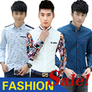 M97 [BUY 2 FREE SHIPPING] Korean style men shirt casual summer shirt fashionable button tops pocket