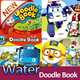 [special Sale~5/30]Doodle Book - Pororo/Tayo/Tobot/Poli Cocomong-Regardless of the imagination paints a picture book.