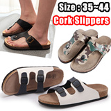 Unisex slippers shoes Casual Beach Sandals/Leather Bottom Cork Slippers/Lovers Couple Shoes jelly shoes women shoes men shoes dress shoes Singapore sex