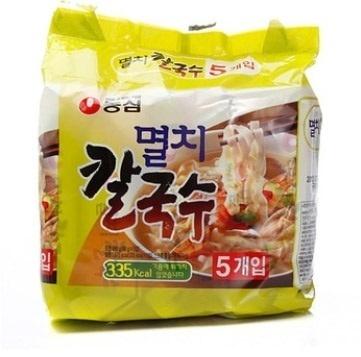 【韓国食品・韓国ラーメン】 ■韓国のニボシカルグッス5個セットラーメン(辛さ0)■の画像