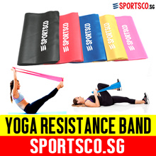 ⏰⚡ Premium Yoga Resistance Band ☘ 5 Level Color Coded Progressive Exercise ☘ SG