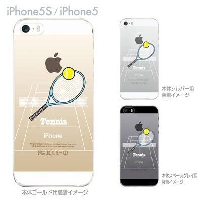【iPhone5S】【iPhone5】【Clear Arts】【iPhone5ケース】【カバー】【スマホケース】【クリアケース】【クリアーアーツ】【テニス】 10-ip5-ca0062の画像