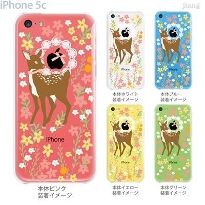 【iPhone5c】【iPhone5cケース】【iPhone5cカバー】【iPhone ケース】【クリア カバー】【スマホケース】【クリアケース】【イラスト】【フラワー】【バンビ】 09-ip5c-ca0033の画像