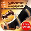 2 for $9.90 ! MIRACLE COPPER / FOOT ANGEL / Thermoskin FXT Socks *防静脉曲张瘦腿袜* - Anti-Fatigue Compression Socks / Reducing Swelling / ENERGIZE TIRED FEET  LEGS + Silicone Heel Protector 硅胶后跟保护套