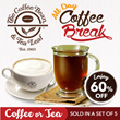 [CBTL] 60% OFF! 5 cups of Coffee/Tea by the Coffee Bean and Tea Leaf. Upgrade and Upsize available at 20 Selected Outlets ALL DAY. Strictly no refunds or extension.