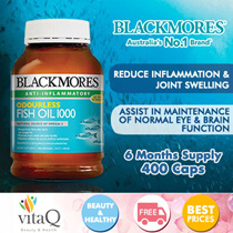 Blackmores Omega Fish Oil 400 Capsules (Expiry Apr 2020)