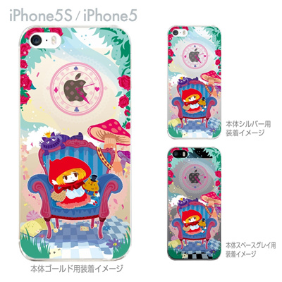【iPhone5S】【iPhone5】【TORRY DESIGN】【Clear Arts】【iPhone5ケース】【カバー】【スマホケース】【クリアケース】【赤ずきんちゃん】 27-ip5s-tr0030の画像