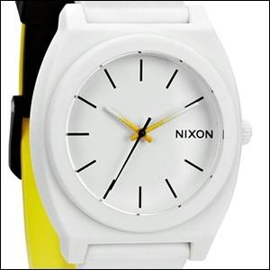 NIXON ニクソン 腕時計 A119-1327 ユニセックス TIME TELLER P タイムテラー BLACK/WHITE/YELLOW FADE ブラック/ホワイト/イエローフェードの画像