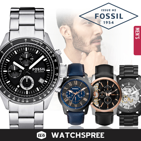 *FOSSIL GENUINE* Fossil Leather and Stainless Steel Watches for Men! Free Shipping and Warranty! Deals for only S$225 instead of S$0