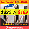 [Crazy Sale]SAMSUNG DIGITAL DOORLOCK EZON Fingerprint PUSH PULL GOLD Door Lock / SHP-DP920 / SHP-DP