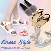 wedge Sandals Heels Korea style slipper flats design sg Slimming Shoes★Women shoes sandals Loafers