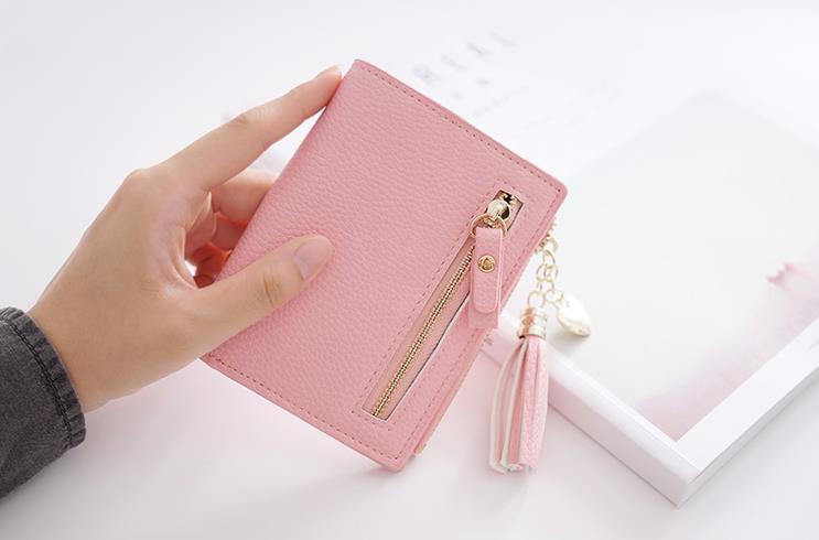 夏新品激安財布 レディース財布4色から選べる レディース 女の子 韓国ファッション 財布 レディース 二つ折り 小銭入れ 高級 レザー ラウンドファスナー 財布 韓国高級