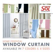 [Cart Coupon Friendly!] ★99% Sunlight Blockout Curtains / Blackout Curtains ★ 2 Pcs Set.