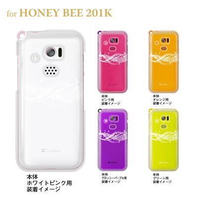 【HONEY BEE ケース】【201K】【Soft Bank】【カバー】【スマホケース】【クリアケース】【ミュージック】【音符】 09-201k-mu0006の画像
