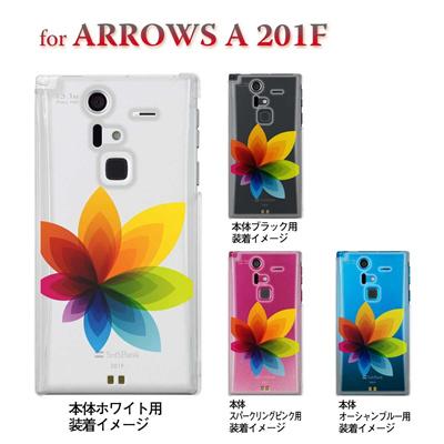 【ARROWS ケース】【201F】【Soft Bank】【カバー】【スマホケース】【クリアケース】【フラワー】 22-201f-ca0031の画像