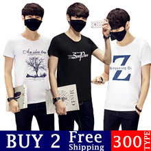 Buy 2 free shipping Cotton T-Shirt Men Women Casual SHORT SLEEVE TEE Premium Quality Cotton Tee