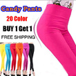【SG Delivery】Buy 1 Get 1 Free Shipping / 20 Color candy pants / Women Clothing / Leggings / Pants