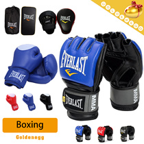 Fitness▶Everlast Boxing Glove and Kick Boxing Pad◀GCA- Strong Protect/Pouching Excercise/Home Excercise/Training/Gym/Kungfu/For Kids and Adults/Size Available/Half Finger/Full Finger/PU