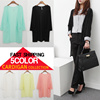 $10Down!! 2016 Spring New HOT Cardigan! 5color!![♥HB STYLE -BIG SALE Event♥] [BEST SELLING] Europe Style Basic Long Cardigan With Pocket/HIGH QUALITY/half cardigan/