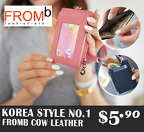 [COWHIDE]★★KOREA FROMB★★ Card holders / Neck Wallet / travel eco backpack
