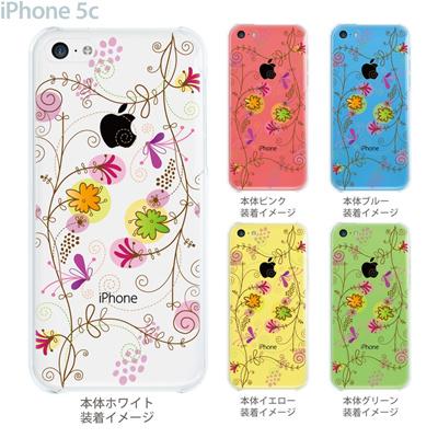 【iPhone5c】【iPhone5cケース】【iPhone5cカバー】【ケース】【カバー】【スマホケース】【クリアケース】【フラワー】【花と蝶】 22-ip5c-ca0029の画像