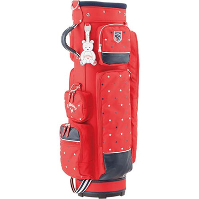◆即納◆キャロウェイ(Callaway) ハッピー(HAPPY)レディース キャディバッグ 15 JM RED 【ウィメンズ 女性 ゴルフ カート型】の画像