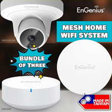 ENGENIUS EnMesh Whole-Home Wi-Fi Mesh System BUNDLE OF 3 W/  Mesh with IP Surveillance Camera