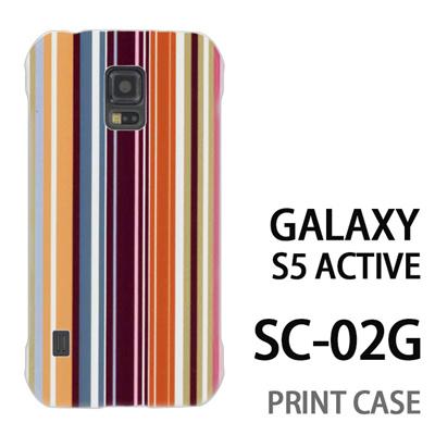 GALAXY S5 Active SC-02G 用『0820 縦ストライプ』特殊印刷ケース【 galaxy s5 active SC-02G sc02g SC02G galaxys5 ギャラクシー ギャラクシーs5 アクティブ docomo ケース プリント カバー スマホケース スマホカバー】の画像