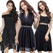 【21/5 new】Black Dresses/Korean style Slim dress/Sexy/Strapless/Halter/Little black dress/Harness dre