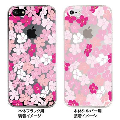 【iPhone5S】【iPhone5】【Clear Fashion】【iPhone5ケース】【カバー】【スマホケース】【クリアケース】【トロピカルフラワーB】 ip5-09-flo0005の画像