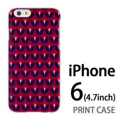 iPhone6 (4.7インチ) 用『0317 花の芽ドット 赤』特殊印刷ケース【 iphone6 iphone アイフォン アイフォン6 au docomo softbank Apple ケース プリント カバー スマホケース スマホカバー 】の画像