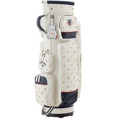 ◆即納◆キャロウェイ(Callaway) ハッピー(HAPPY)レディース キャディバッグ 15 JM WHT 【ウィメンズ 女性 ゴルフ カート型】の画像