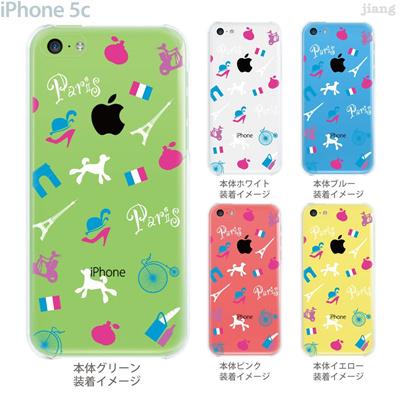 【iPhone5c】【iPhone5cケース】【iPhone5cカバー】【クリア ケース】【iPhone カバー】【スマホケース】【クリアケース】【イラスト】【フラワー】【Paris】 22-ip5c-ca0100の画像