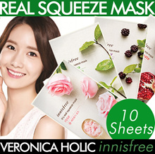 Innisfree Mask Sheet Collections★Its Real Mask 16 Types/Intense Ampoule Mask/Hydro Gel Mask★Korean