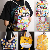 ★Disney-tsum tsum Style★Gudetama★HOT SALED★rawstring Bag/Backpack/Sling bag/Messenger Bag/Sackbag/Childrens school bags/christmas gift/gifts
