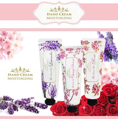 【国内配送】ハンドクリーム50g  乾燥・保湿 モイスチャライジングハンドクリーム  Hand cream (LavenderroseCherry Blossom)の画像